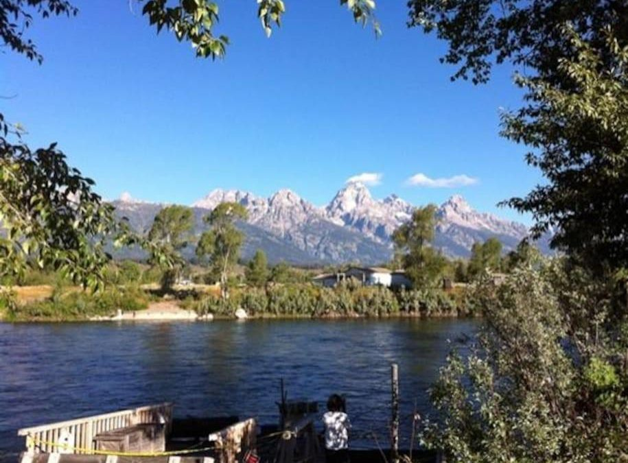 Don't forget to take a short drive to Moose for a fab view of the Tetons.