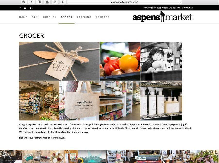 The Aspens Market is a 3-minute walk away.