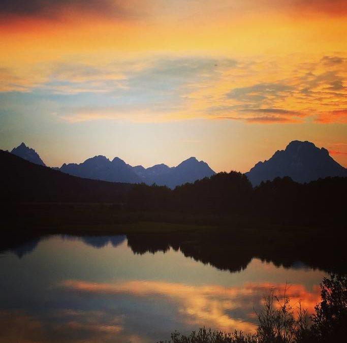 #nofilter takes a life of its own from sunset at Oxbow Bend in the park.